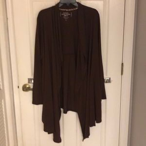 Dark Brown Long Sleeve Kimono